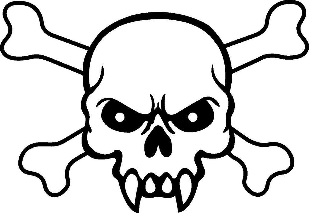 Skull and Crossbones Drawings